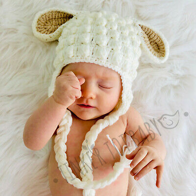 Baby Crochet Beanie Boy Girl Knit Hat Cat Costume Newborn Toddler Gift Props AU!