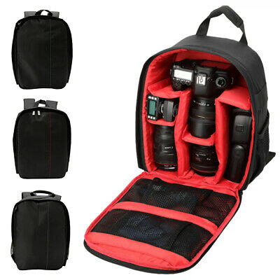 Camera Backpack Waterproof Shoulder Bag Case DSLR SLR With Canon EOS Nikon-Sony