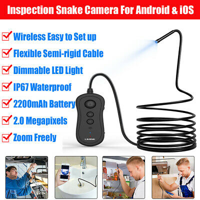 LIMINK 3.5m 15m WIFI Endoscope Waterproof Snake Tube Inspection Camera + 6 LED