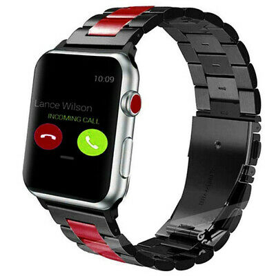 US Apple Watch Series 5/4/3/2/1 38-44mm Classic Metal Stainless Belt Steel Bands