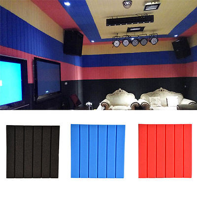 Striped Soundproofing Acoustic Foam Wall Panels Wall Stickers Noise Reduction