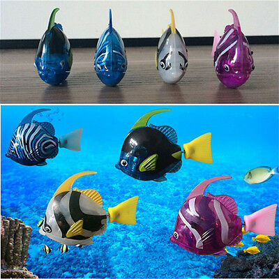 Robo Fish Battery Powered LED Robofish Clownfish Electric Pets Gift Children Toy