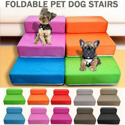 Folding Pet Steps Dog Cat Portable Lightweight Travel Stairs Sofa Bed Two Layers