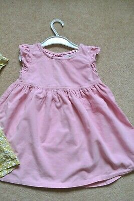 NEXT girl's summer 100% cotton thin cord pink dress 2-3 years