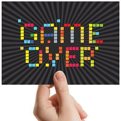 "Game Over Retro Gaming Gamer Small Photograph 6""x4"" Art Print Photo Gift #14129"