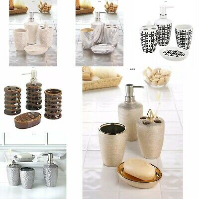 Bathroom Accessory Set 6 Different Style Tumbler Lotion Dispenser Soap Dish Toot