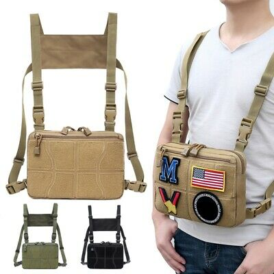 1000D Tactical Adjustable Chest Bag Outdoor Hunting Harness Chest Rig Waist Pack