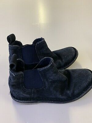 Boys Next Ankle Shoes Size 12 Suede Dark Navy Blue