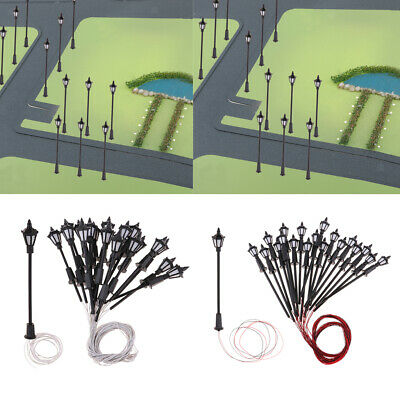 1:150 Scale HO Scale Led Street Lights for Sand Table Model Decor 20Pack of