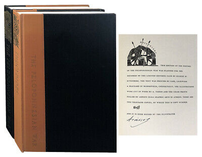 Thucydides / LIMITED EDITIONS CLUB The History of the Peloponnesian War Signed