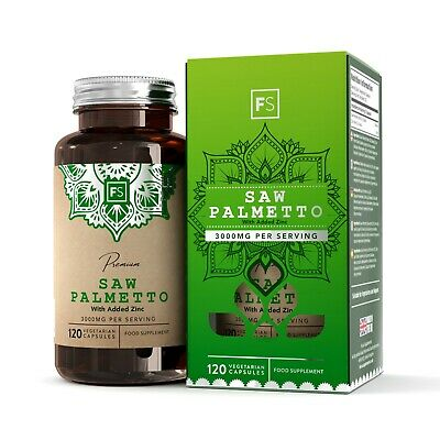 Saw Palmetto (3000mg) With Zinc | Prostate Health | Hair Loss | MADE IN THE UK