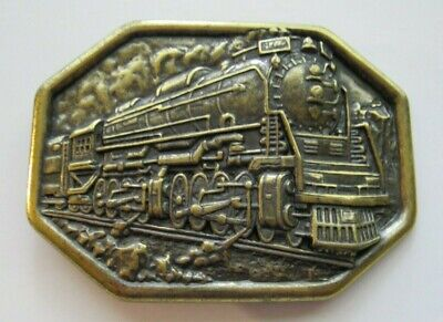Vintage  Avon Train Locomotive Brass  Belt Buckle