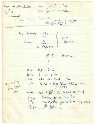 Autograph Manuscript Handwritten by Francis Crick w/ Over 200 Words in His Hand