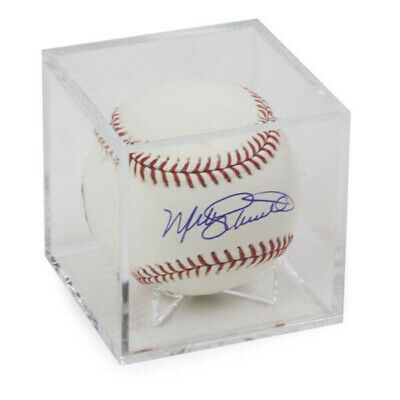 (1) SQUARE CLEAR CUBE BASEBALL DISPLAY CASE BALL HOLDER with CRADLE