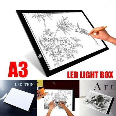 A3 LED Ultra Slim Drawing Board Light Box Art Craft for Sketching MULTIPLE USE