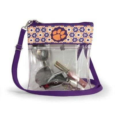 Clemson Tigers Clear Game Day Crossbody Bag Stadium Approved Purse University