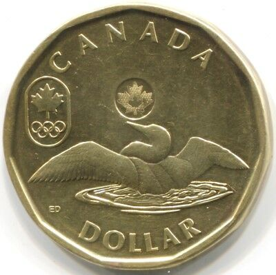2012 CANADA ONE DOLLAR Coin - 5th 'Lucky Loonie' Issue