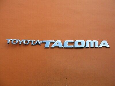 Nameplate fit Toyota Tacoma connected 95-04 Door Trunk Tailgate Emblem Letters