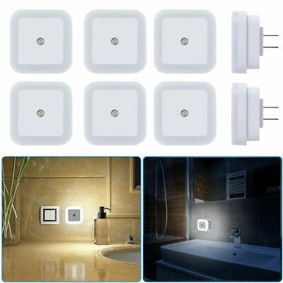 1-8 Pack Plug in LED Night Light Wall Lamp with Dusk to Dawn Sensor White 0.5w