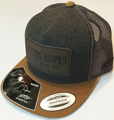 promo code ae0ef c460e Hooey Cactus Ropes Cap Dark Gray Light Brown Brand New FREE SHIPPING