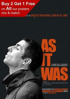 Liam Gallagher As It Was Poster A5 A4 A3 A2 A1