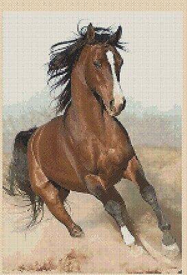 chevaux BT-133 Counted Cross Stitch Kit Lilac Sunrise