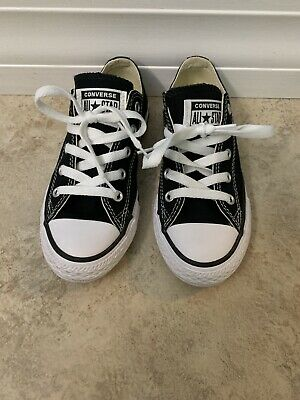Boys Converse Size 13 Black Excellent Condition Worn Once