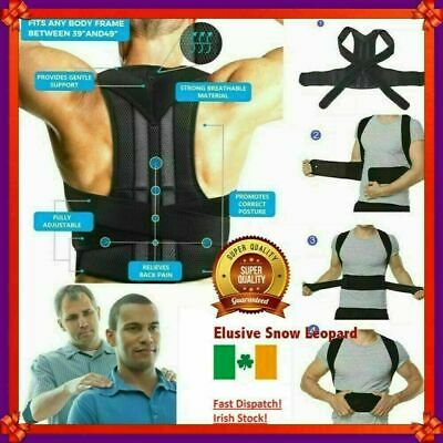 Posture Corrector Support Magnetic Back Shoulder Brace Belt For Men Women