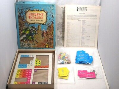 KNIGHTS OF CAMELOT Vintage 1980 TSR Fantasy Board Game COMPLETE 1st Edition