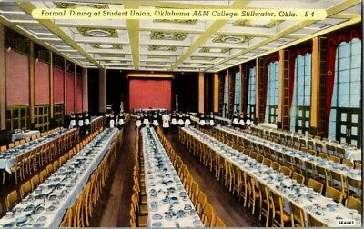 1950'S. Interior, Oklahoma A&M College. Dining Hall. Postcard Ck1