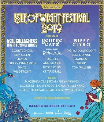 Two Adult Isle Of Wight Festival 2019 Weekend Tickets genuine