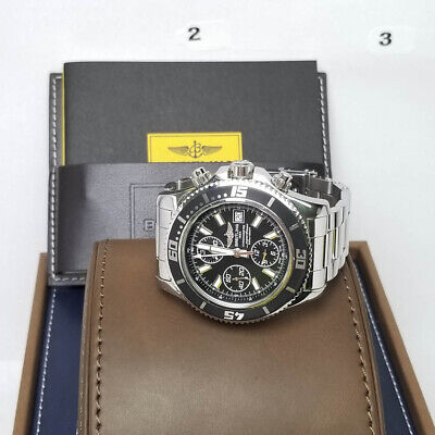 size 40 ef1d5 58091 BREITLING SUPEROCEAN A13341 Chrono Steel 47Mm Automatic Watch Box & Papers