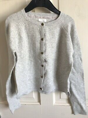 BNWOT Next Cardigan. Lightweight/ Soft Touch. Girls. Age 3 - 10 Years. Pale Grey