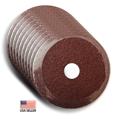 "4 1/2"" x 7/8 36 Grit Resin Fiber Sanding Disc,  Calcined Aluminum Oxide 50 Pcs"