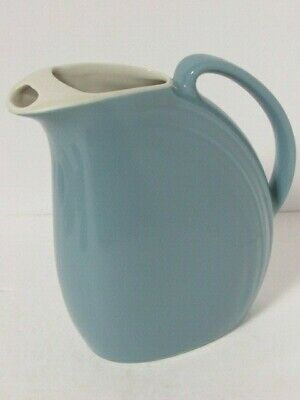 """Hall China Nora Light Blue Water Iced Tea Pitcher Jug 8"""" T40 Vintage Collectible"""