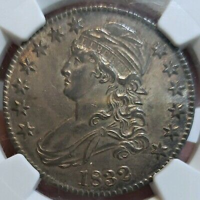 ~☆WOW☆~ MS-62 1832 Capped Bust Half Dollar NGC  Nice looking coin in high grade