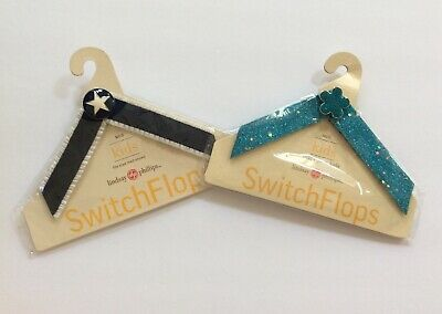 Lot 2 NEW LINDSAY PHILLIPS SWITCHFLOP KIDS STRAPS Size M,  Mary Jane and Martha