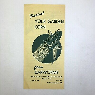 Vintage 1952 USDA US Dept Of Agriculture Protect Corn From Earworms Pamphlet