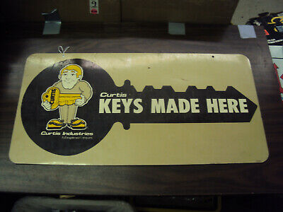 "Vintage Two Sided Curtis Key Sign 24""    483-Q"