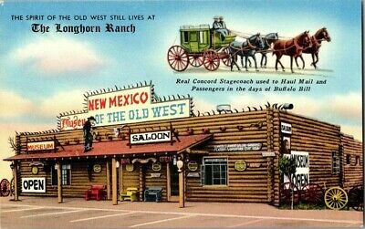 1950'S. The Longhorn Ranch. Route 66. Santa Rosa, Ca. Postcard Ck2