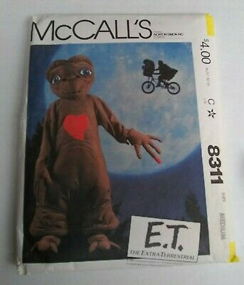 E.T. Extra Terrestrial Costume Sewing Pattern Medium Childs McCall's 8311 ET
