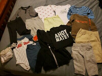 Lot Infant Baby Boy Clothes sz 6 Mth Months Outfits 2-pc Sets Carter's, Carhartt