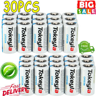30X 3V Tokeyla Photo Batteries CR123A CR123 Lithium Battery Security Camera etc