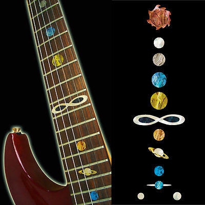 Inlay Stickers Decals Fret Markers For Guitar & Bass -Planet Cosmos Solar System