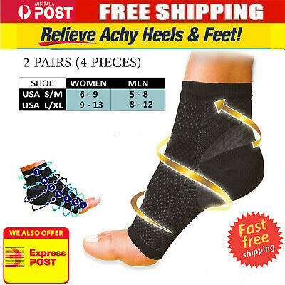 Fasciitis Plantar Compression Socks Foot Sleeve Ankle Support Brace Achy Heel AV