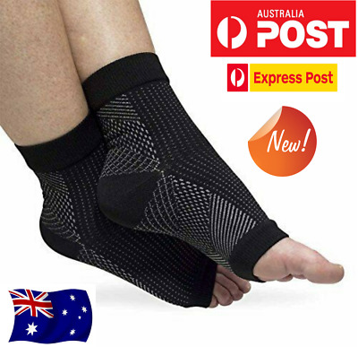 Plantar Compression Socks Foot Sleeve Ankle Support Brace Achy Heel AV Fasciitis