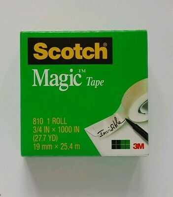 2 Scotch Magic Tape 810 Roll 19mm x 25.4 Invisible Tape