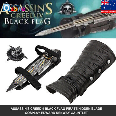 HOT Assassin's Creed 4 Edward Kenway Hidden Blade Gauntlet Black Flag Pirate