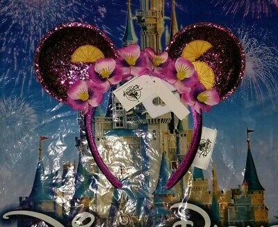 NEW Disney Parks Minnie Mouse Ears EPCOT FLOWER & GARDEN Festival 2019 Headband