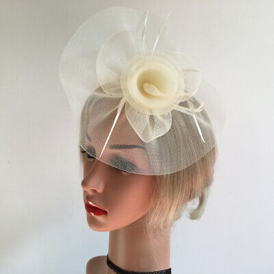 Handmade Womens Feather Floral Hair Fascinator Hat Headband Hair Accessories